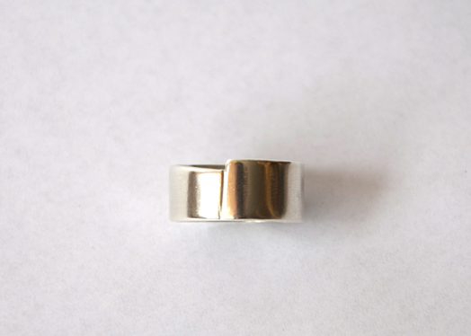 silver baumeister cut ring